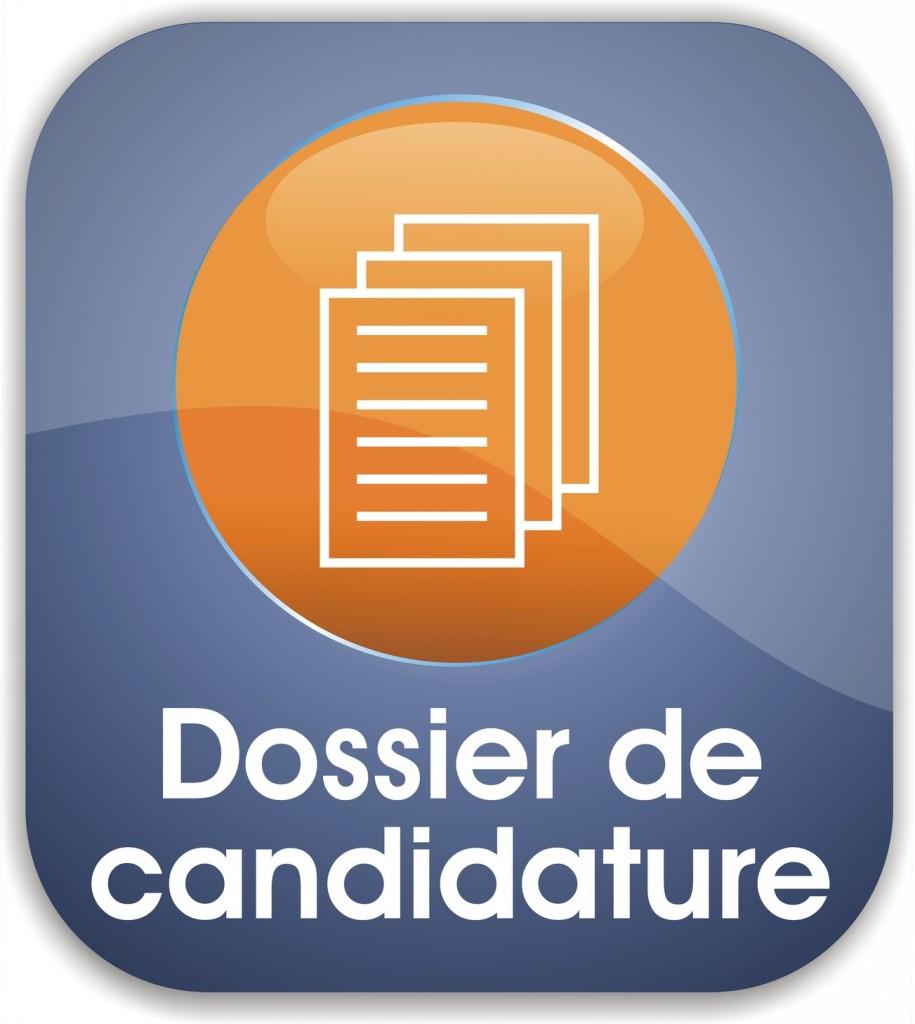 bouton dossier de candidature